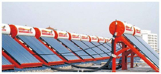 山西大同碧云国际花园小区628台单机热水工程