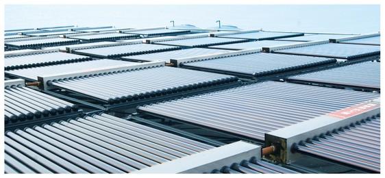 青岛平度东莱大酒店20吨集热模块热水工程