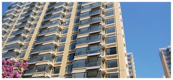 烟台海阳东方花园高层居民区528台平板热水工程