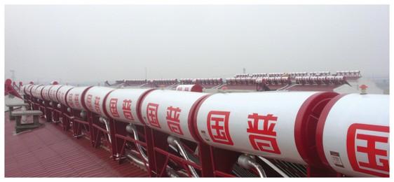 河北省邯郸南杜村新农村建设居民小区632台单机热水工程