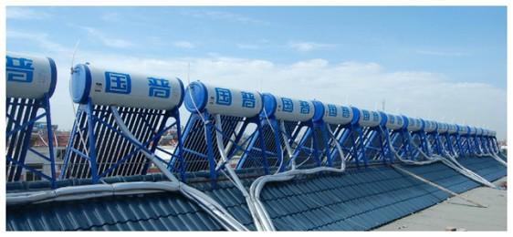 青岛王格庄新新花园居民小区463台单机热水工程2