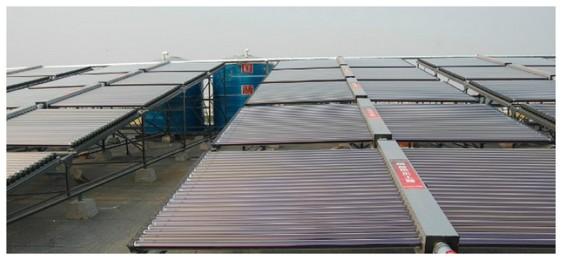 青岛平度东莱大酒店20吨集热模块热水工程2